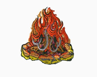 4x4 Embroidery File: Campfire, Choose Your Size and Format, Digital File, PES, DST, XXX, Customizable, Embroidery, Machine Embroidery