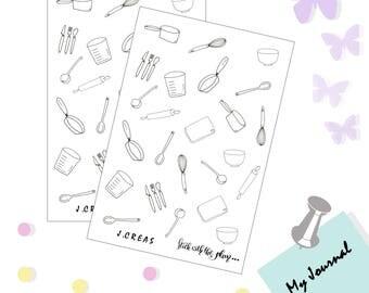 Ustesiles kitchen stickers