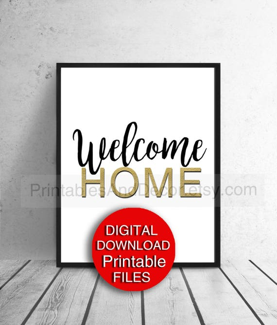 Entryway And Free Printables: Printable Decor Welcome Home Sign Hygge Decor Entryway Art