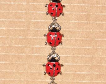 Retro 1990s Ladies Ladybug Bracelet -Priority Shipping World Wide!