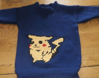 Hand knit child sweater