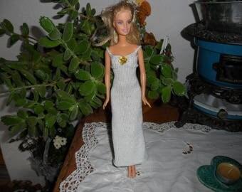 white long dress for barbie