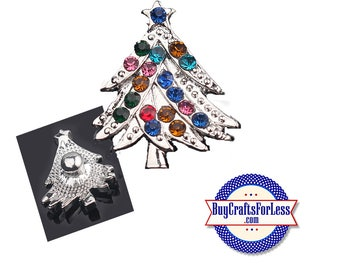 SNaP CHRiSTMAS TREE BUTTONs, 18mm INTERCHaNGABLE Button, 4 NEW Styles +FREE Shipping & Discounts