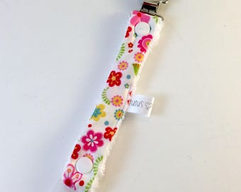 CLEARANCE-Soother holder - floral