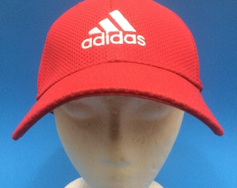 Vintage Adidas Fitted hat adjustable red