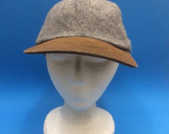 Vintage Blank Fleece Leather Strapback Hat Adjustable