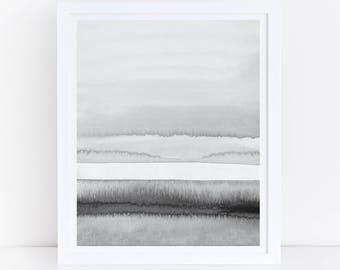 Gray Wall Art, Gray Abstract Art, Printable Abstract, Black and White Prints, Minimal Wall Art, Monochrome Print, Minimal Wall Print, Black