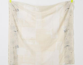 Nani Iro double gauze - WHITE Canvas fabric - 50cm