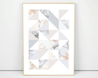 Marble Abstract Art, Marble Texture Print, Pastel Poster, Modern Marble Art, Grey Marble Poster, Pink Marble, Marble Wall Art