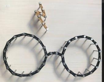 Harry Potter String Art // Glasses and Lightning Bolt