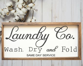 Large Laundry Room Signs Unique Wash Dry Fold  Etsy Design Ideas