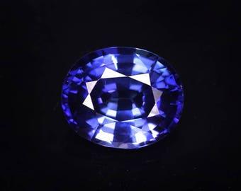 Perfect 6.0 ctw. blue sapphire loose gemstone.