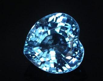 15.1 ctw. blue topaz loose gemstone.