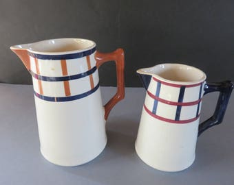 Duo of Milk Pots - CREIL and MONTEREAU- (HBCM) - Vintage - 30s - French Collector