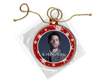Supernatural Castiel Misha Collins  Christmas Ornament