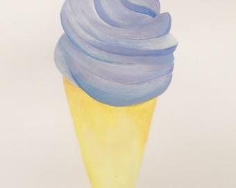 Lavender Ice Cream Cone