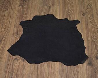 Black lambskin leather velvet finish (2017080701)