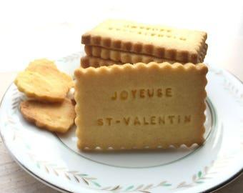 Sachet de 10 biscuits - message personnalisé