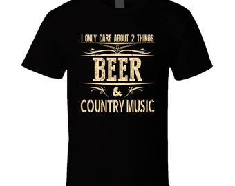 Beer And Country Music Tshirt