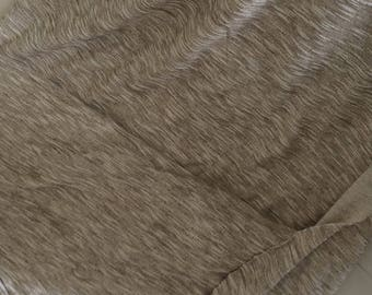 Fabric colour taupe striped 200 wide