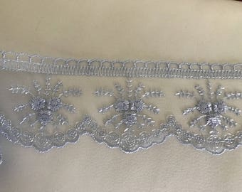 6 cm approx light blue tulle lace Ribbon