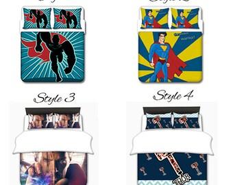 Superhero Thor Duvet, Thor Duvet Set,  Toddler Duvet, Twin Duvet, Queen Duvet, King Duvet, Custom Duvet Set, Custom Dorm Duvet