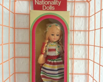 Vintage Nationality Doll Sweden Sleeping Eyes Boxed