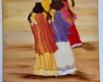 Handmade on canvas painting