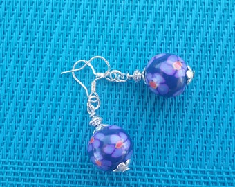 Whimsical polymer clay and Silver earrings 925/000