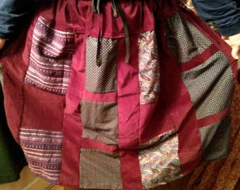 Winter patchwork skirt