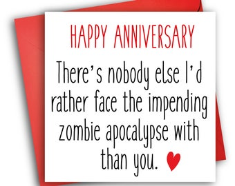 Anniversary Zombie Card/ The Walking Dead/ Anniversary