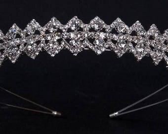 """Diadem """"Pearl"""",Gold Rhinestone Wedding Tiara, Gold Bridal Tiara, Gold Tiara,Pearl,Silver tiara,Multicolor tiara,Tiara with pearls."""