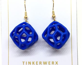3D Printed Coral Rock Earrings - Multiple Colors to Choose From