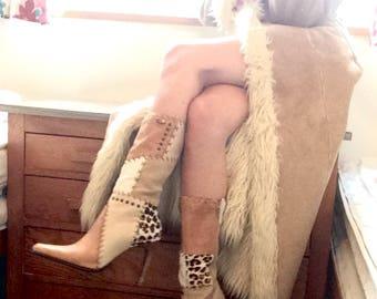 Leather boots size uk 5 Faith