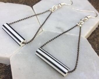 Striped Acrylic Earrings