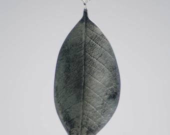 Handmade Sterling Silver Leaf Pendant London Hallmarked