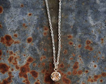 Simple Solitaire Necklace