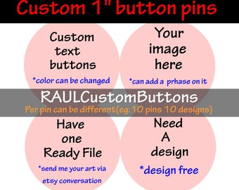 25 1 inch custom Button Badge, personalized Pin button, Pinback buttons, Button Badges, Pinback Button Badge, can't make stuff up