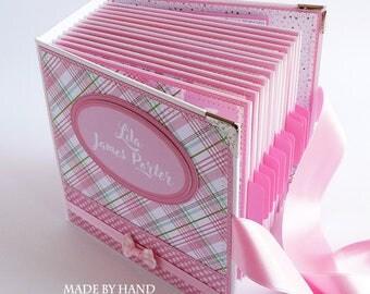 Baby Book Girl, Baby Girl Scrapbook, Premade Scrapbook Album, Baby First Year, Baby Photo Album, New Baby Girl Book, Baby Girl Memory Book