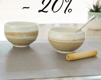 Glazed porcelain - ceramic Brown collection - Ozeclore Bowl duo