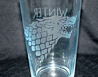 Stark Etched Pint Glass