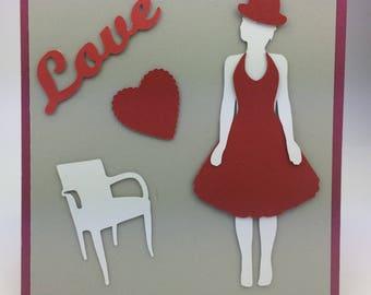 Frame unique Valentine card