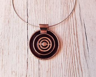 The Choker necklace in black enamel