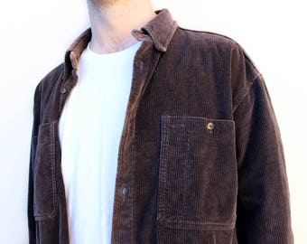 SALE Vintage Brown Corduroy Jacket