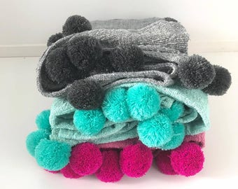 Pom Pom and Tassel Blankets