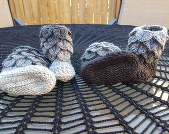 Dragon Scale Baby Booties