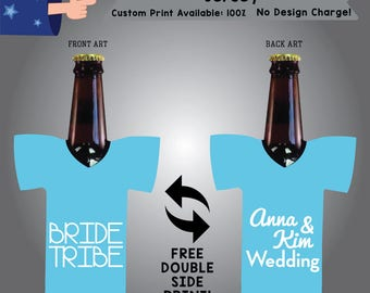Bride Tribe Name & Name Wedding Jersey Wedding Cooler Double Side Print (J-W5)