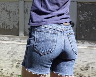 Vintage High Waist Shorts LEE Acid Wash Cut Offs Sz 0-2 / 26