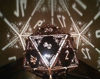 D20 Dungeons and Dragons Dice - Desk Lamp