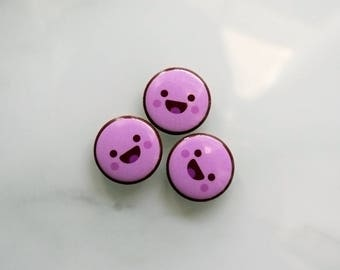 Happy Candy Pin, Buy Enamel Pin, Happy Face Button Badge, Buy Cool Badge, Cool Pins for Hats, Cool Button Badges, Badge, Custom Enamel Pins